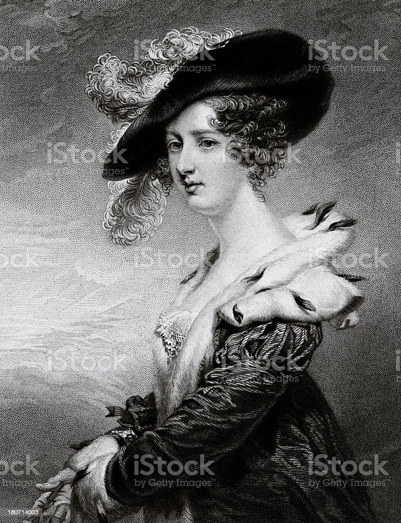 Lady Georgiana Agar-Ellis vector art illustration