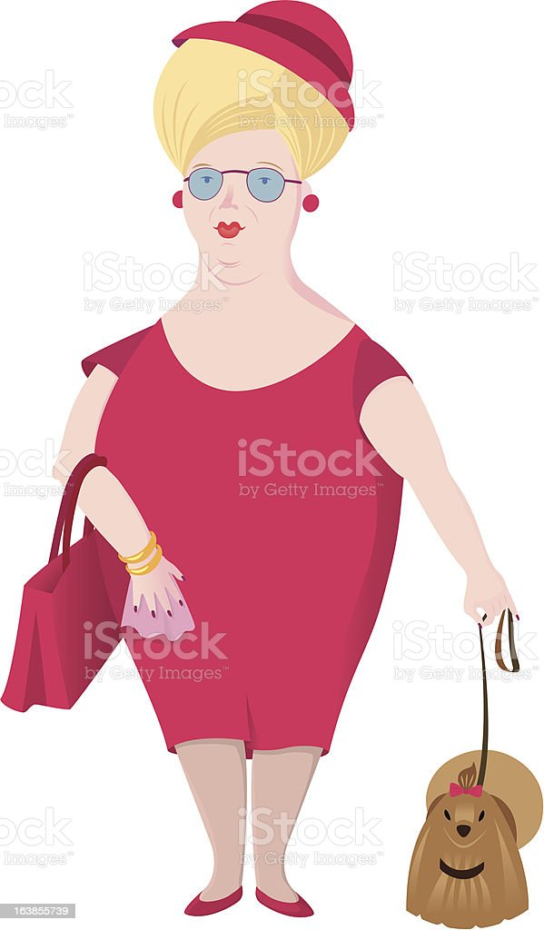 lady royalty-free stock vector art