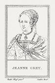 Lady Jane Grey (1536/3-1554), English noblewoman, copper engraving, published 1805