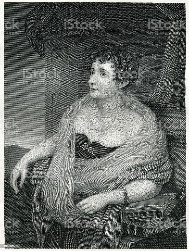 Lady Morgan royalty-free stock vector art
