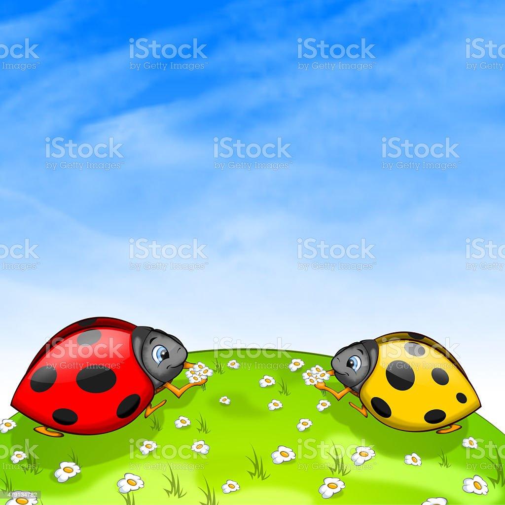Ladybird vector art illustration