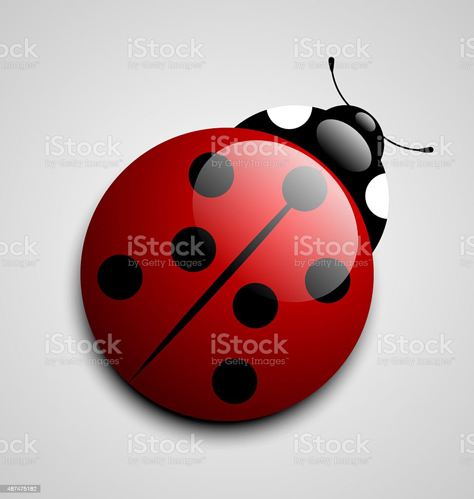 Ladybug icon vector art illustration