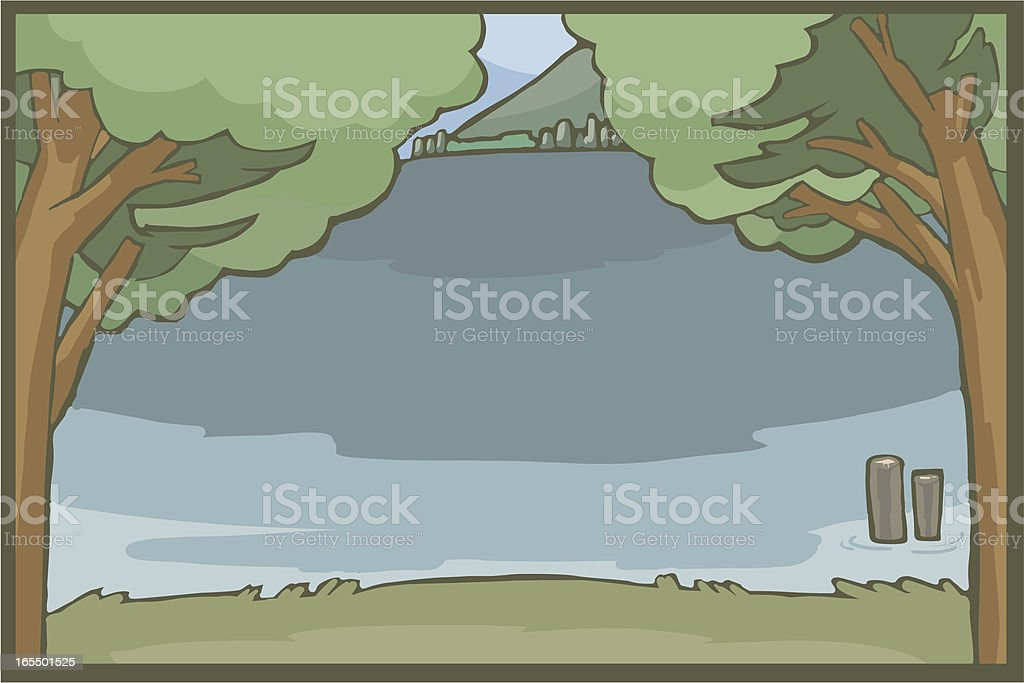 Lake background royalty-free stock vector art