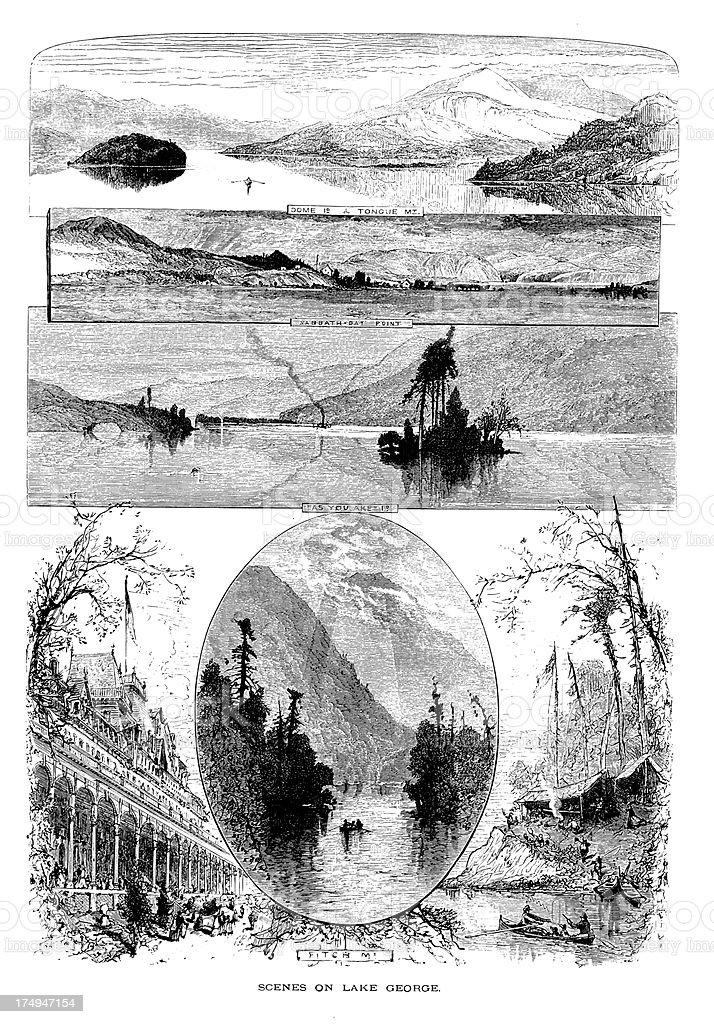 'Lake George, New York' vector art illustration