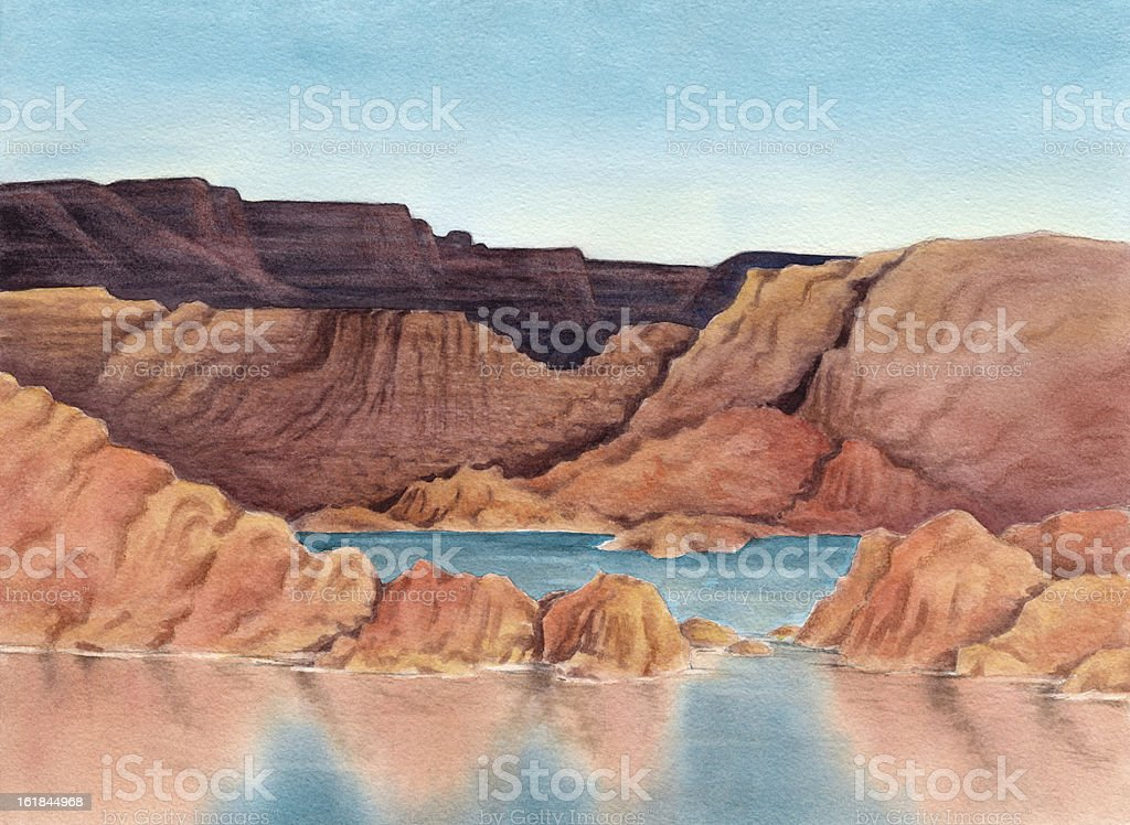 Lake Powell royalty-free stock vector art