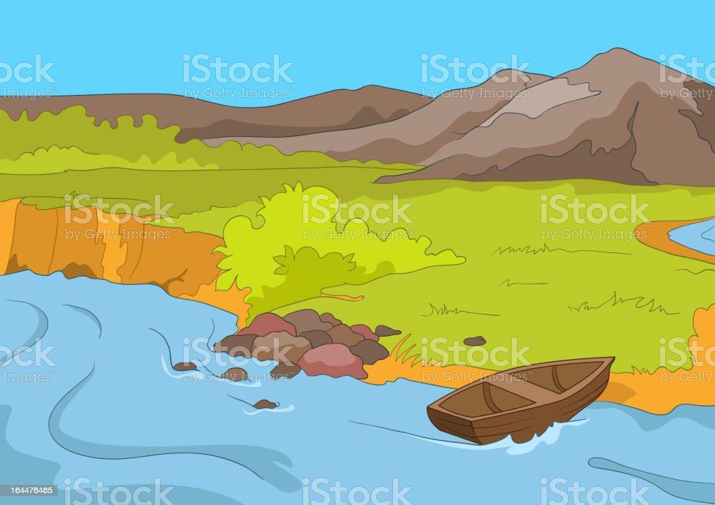 Lake Shore royalty-free stock vector art