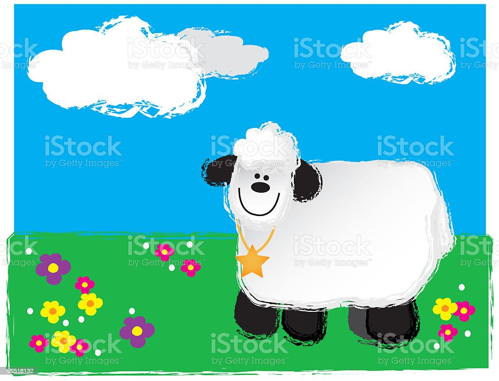 Lamb (VECTOR) royalty-free stock vector art