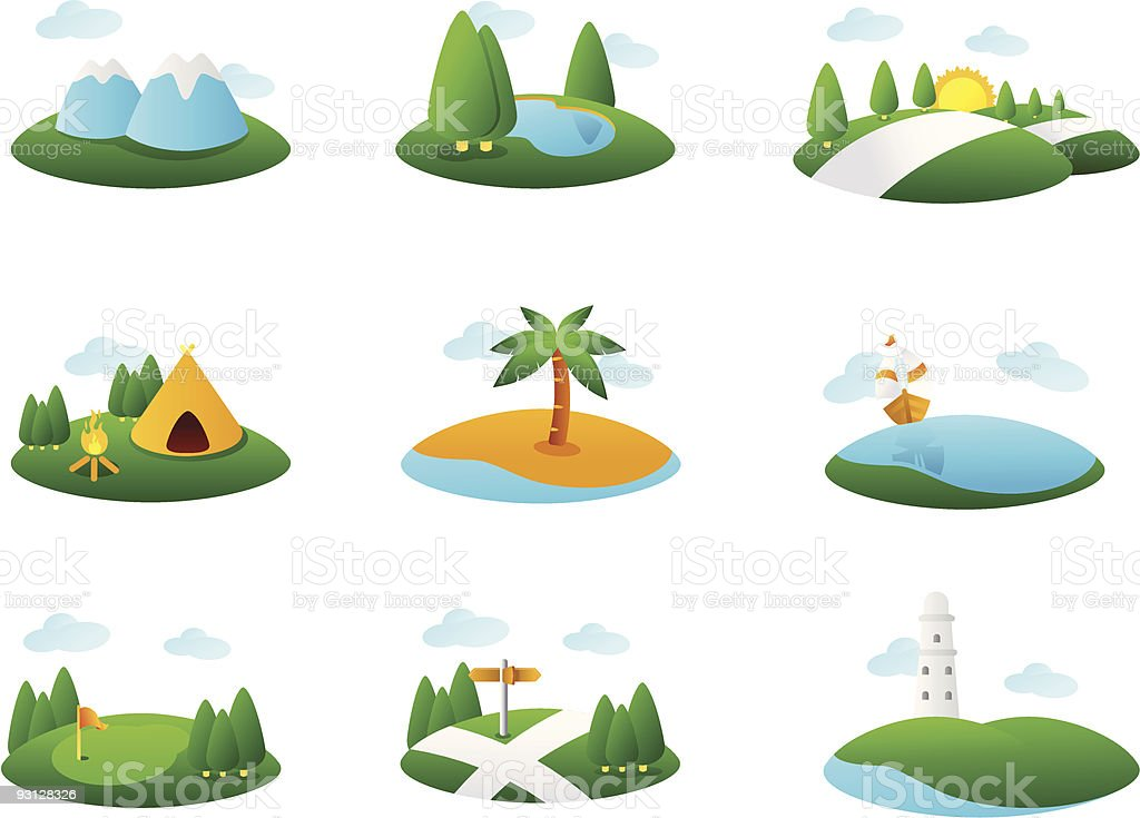 Landmark Illustration vector art illustration