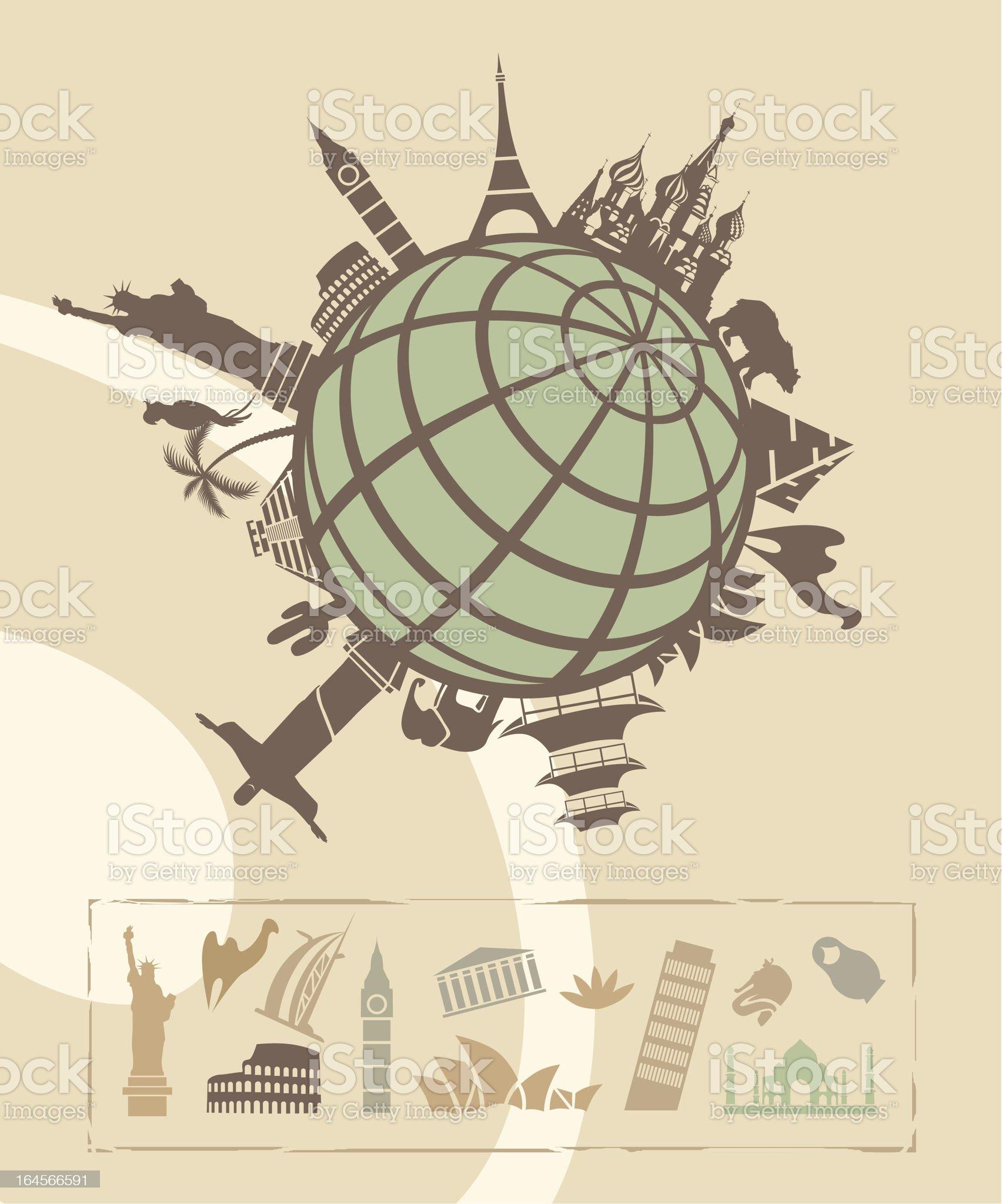 Landmarks around the World royalty-free stock vector art
