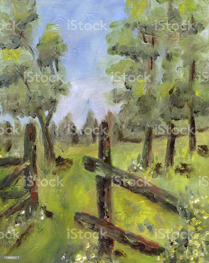 Landscape background royalty-free stock vector art