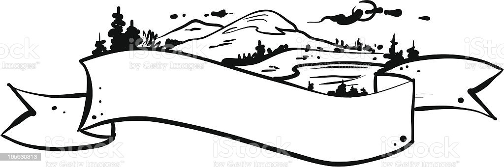 Landscape banner royalty-free stock vector art