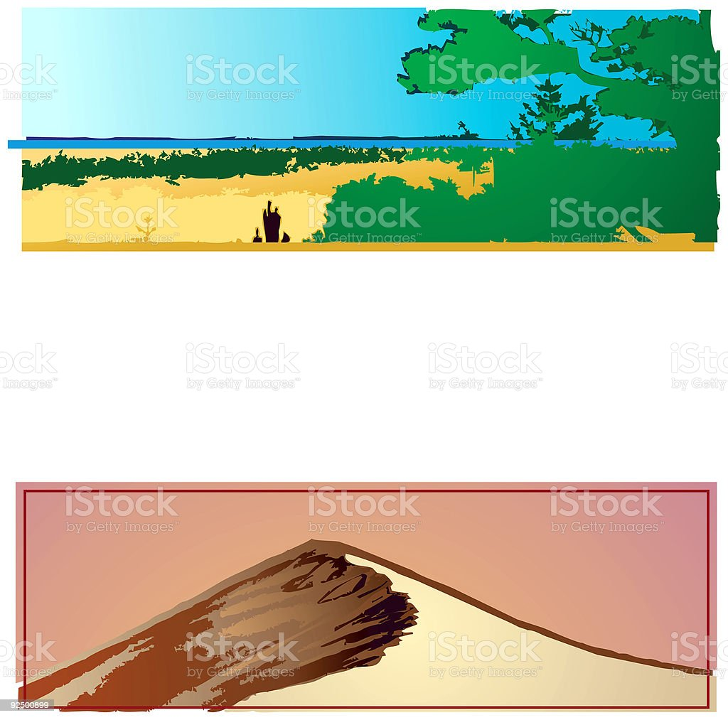 Landscape collection 02 royalty-free stock vector art