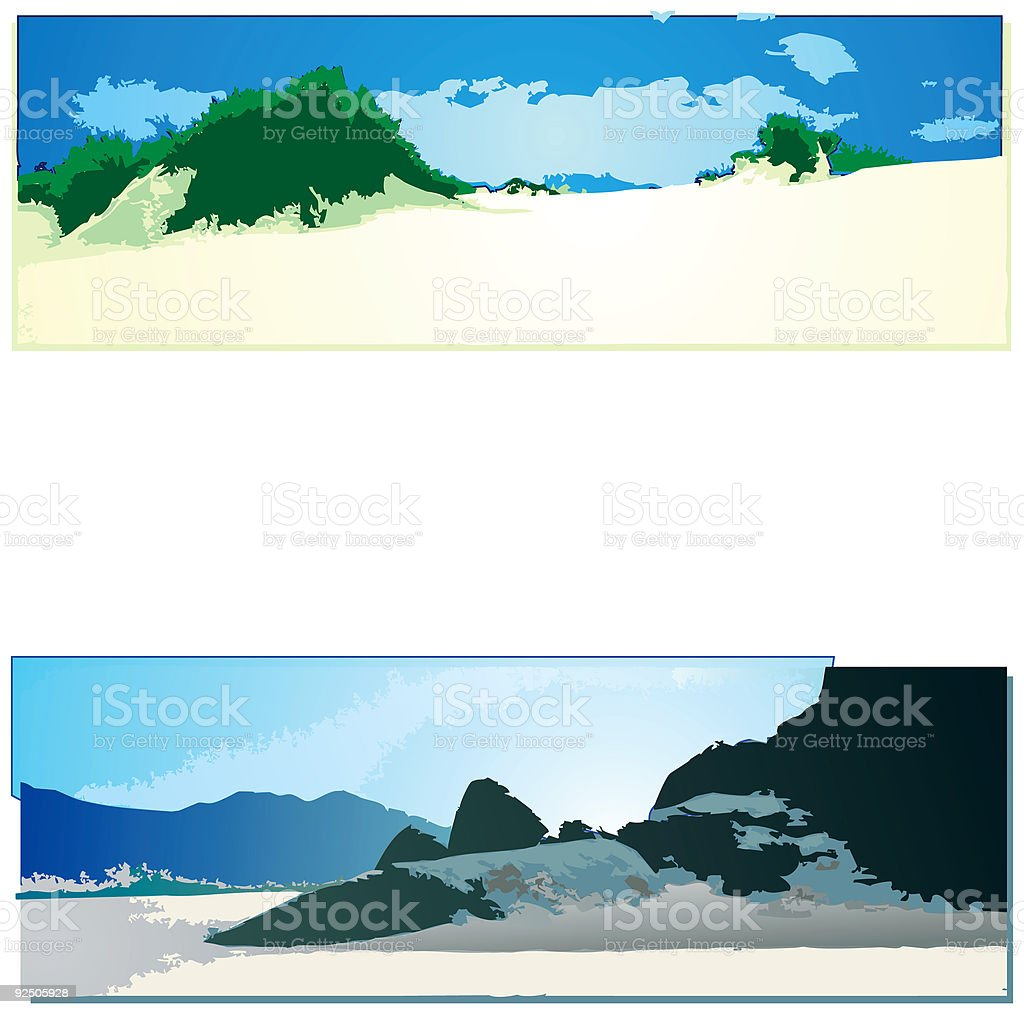 Landscape collection 05 royalty-free stock vector art