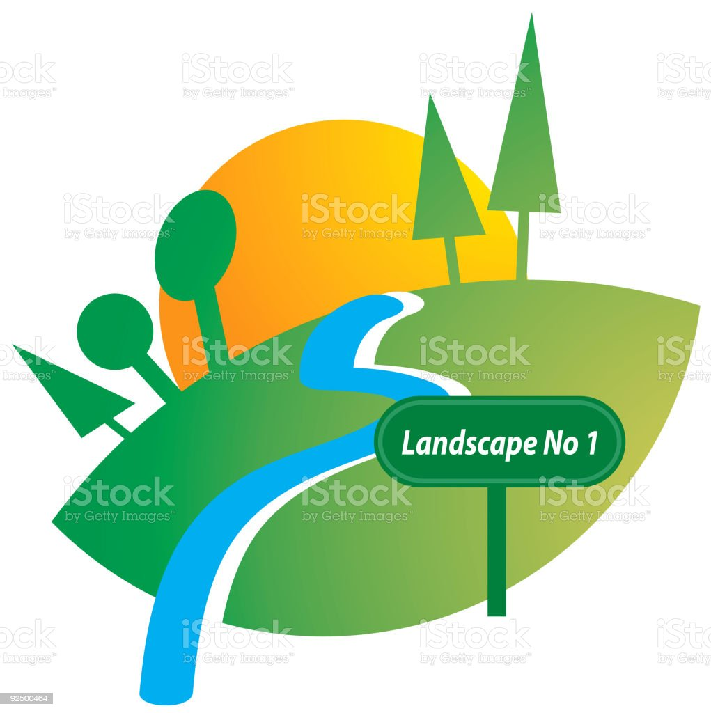 landscape No 3 royalty-free stock vector art