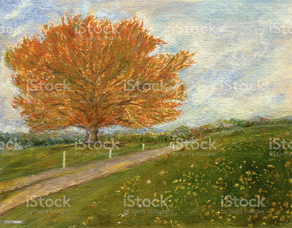 Landscape - Oil Painting royalty-free stock vector art