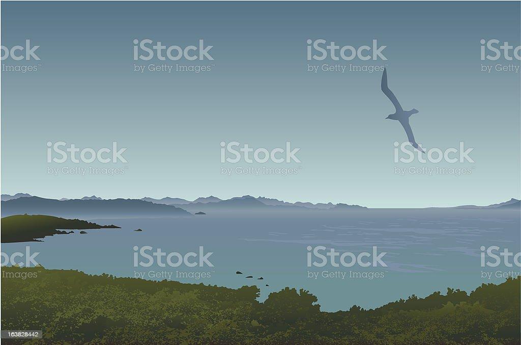 Landscape - Sardinia (Italy) royalty-free stock vector art