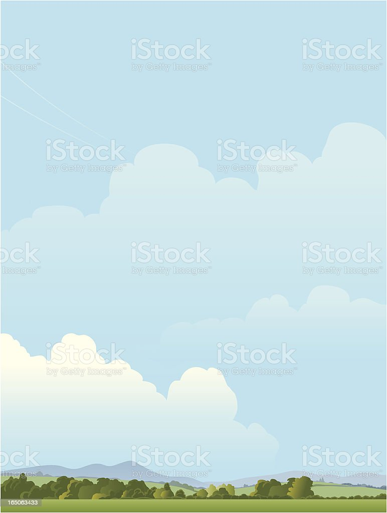 Landscape with mountains royalty-free stock vector art