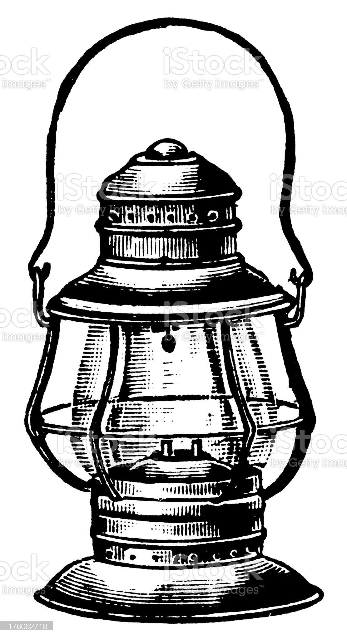 Lantern   Antique Design Illustrations royalty-free stock vector art