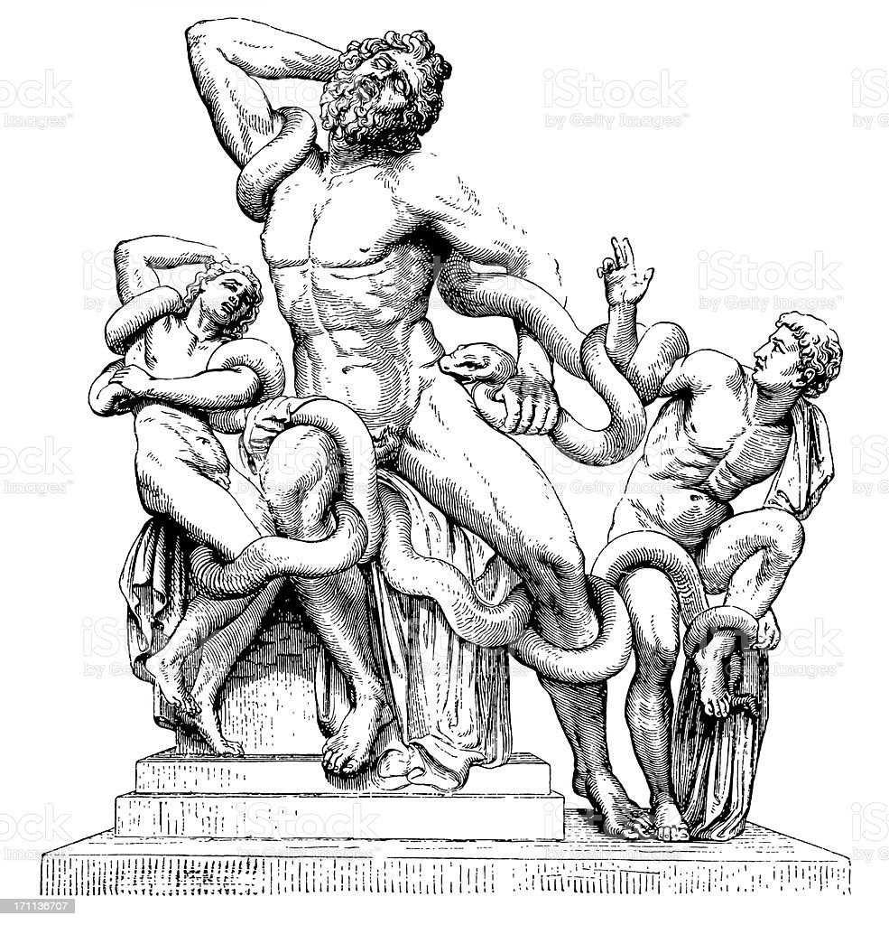 Laocoon and His Sons royalty-free stock vector art