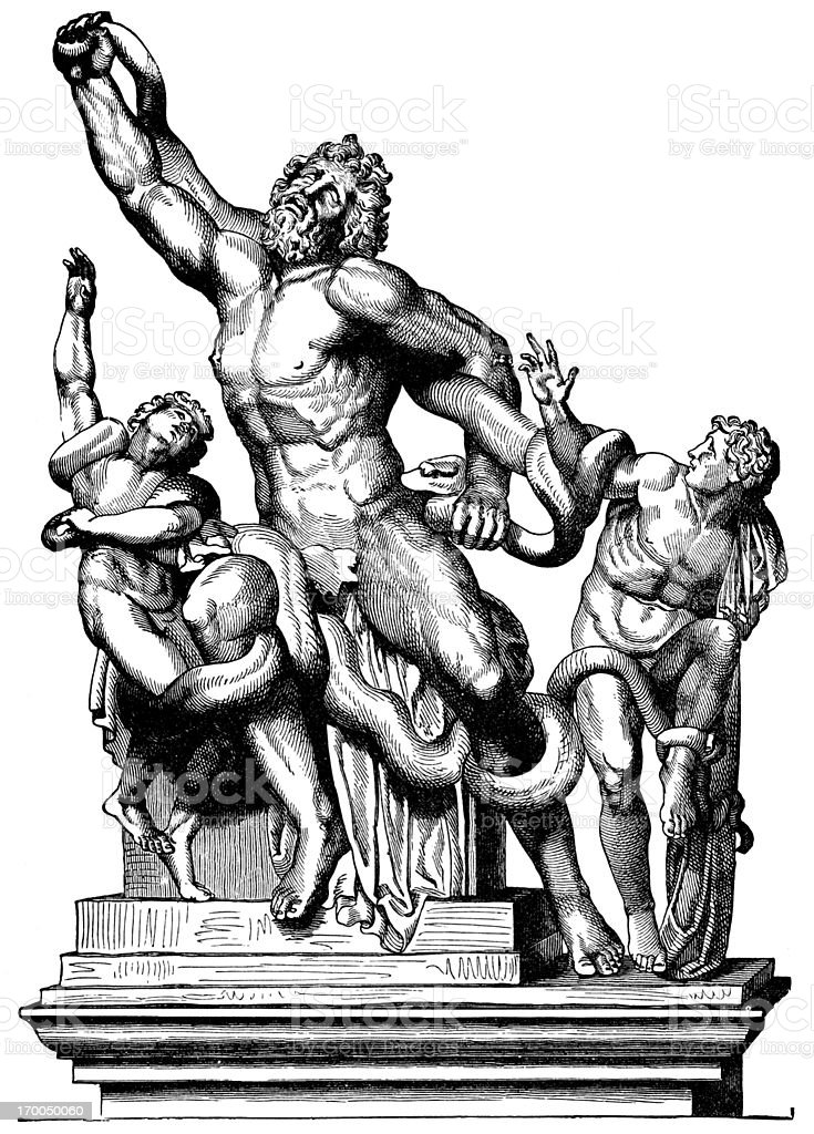 Laocoon, The False Priest royalty-free stock vector art