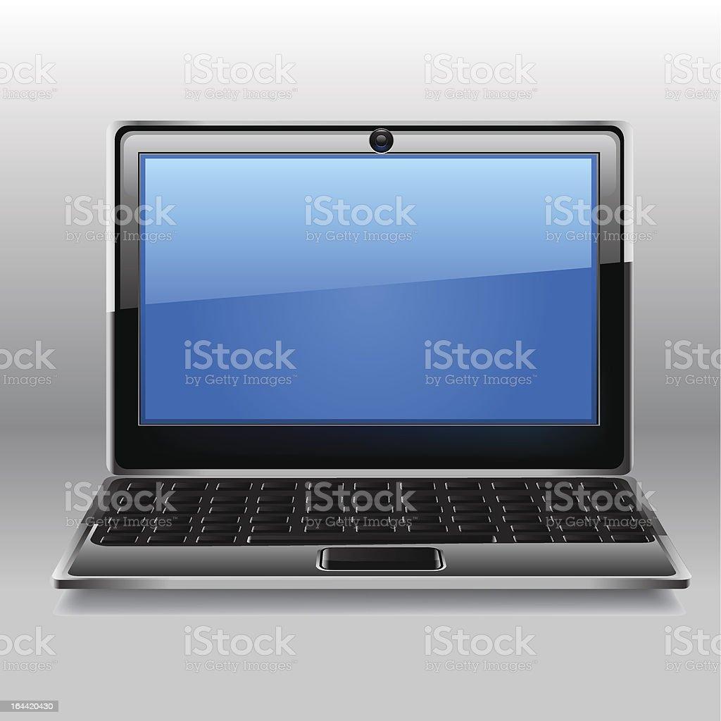 Laptop icon. royalty-free stock vector art