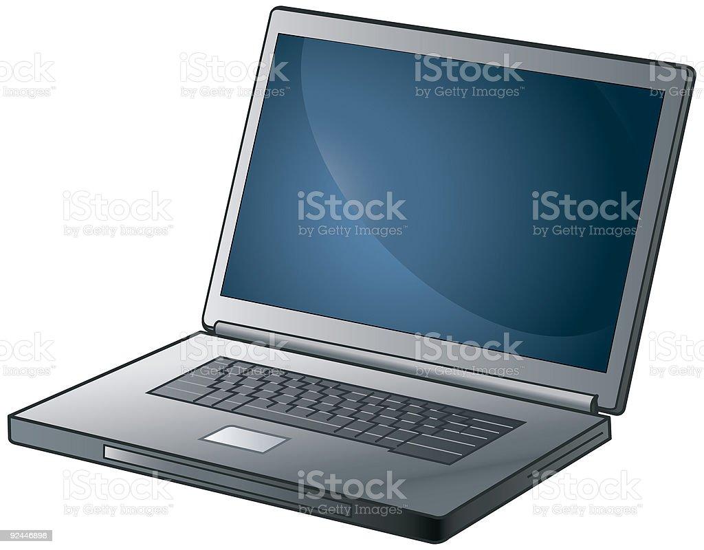 Laptop (vector) royalty-free stock vector art