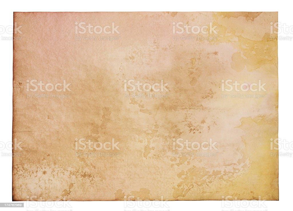 Large Blank Vibrant Aged Parchment Papyrus Grunge Paper Texture vector art illustration