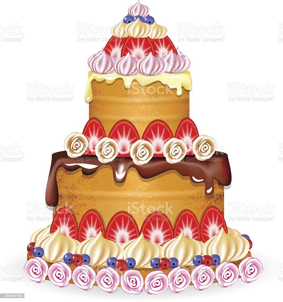 Large cake royalty-free stock vector art