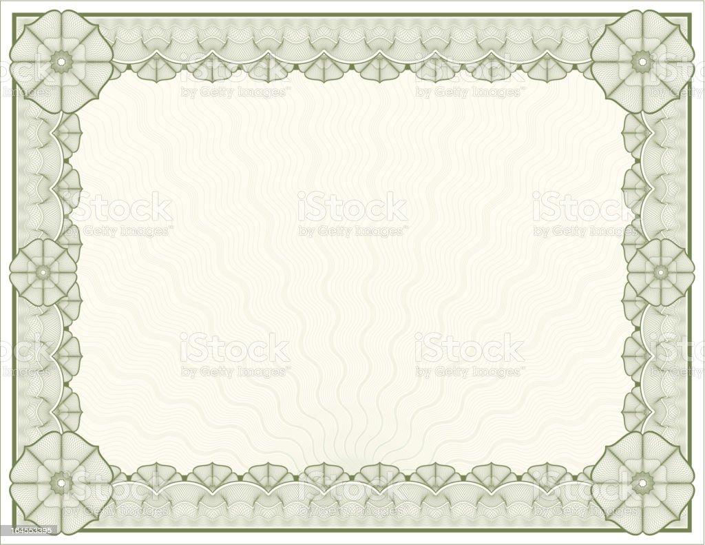Large Certificate - Diploma vector art illustration