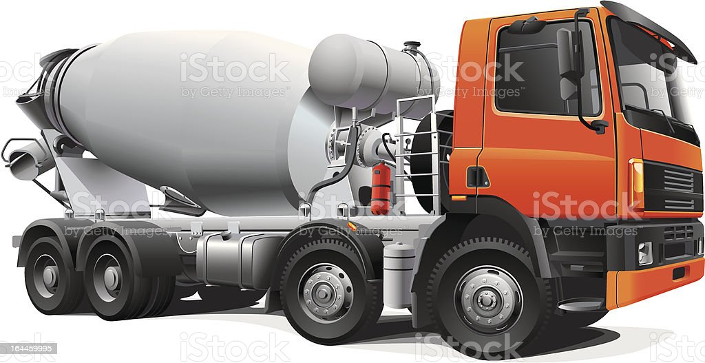 large concrete mixer royalty-free stock vector art