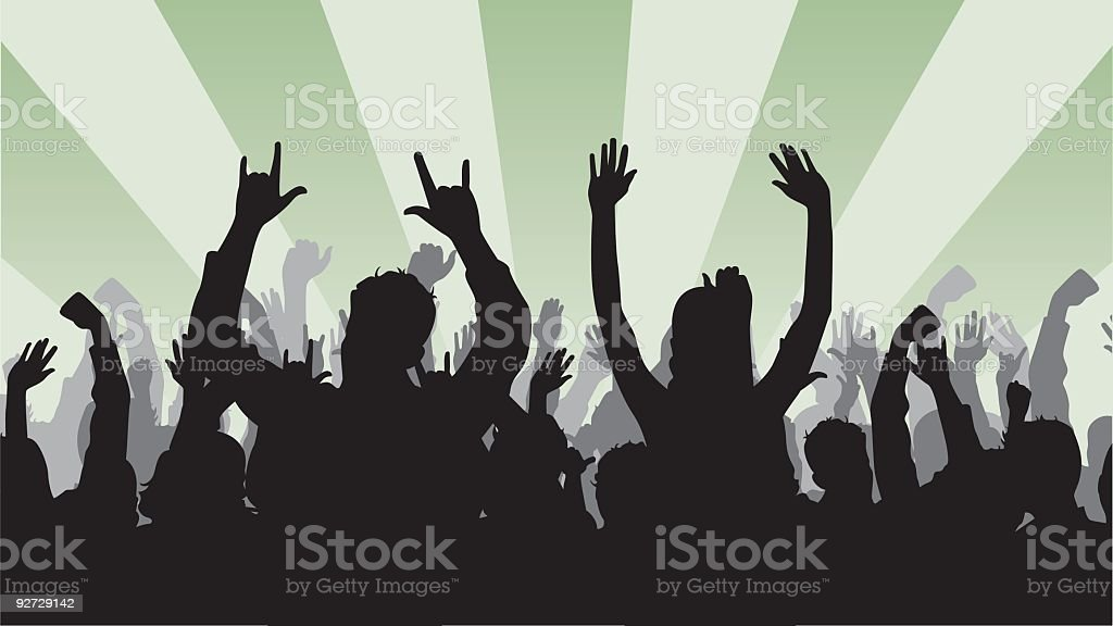 Large Crowd royalty-free stock vector art