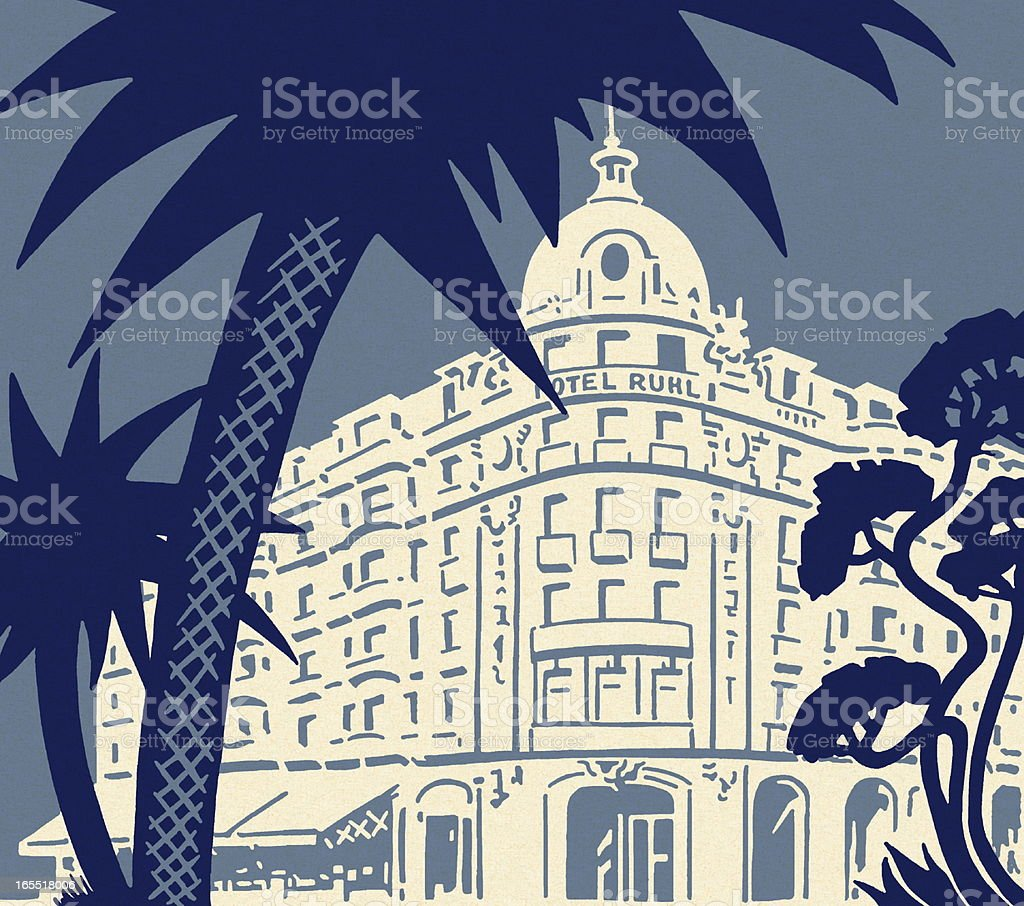 Large Hotel royalty-free stock vector art