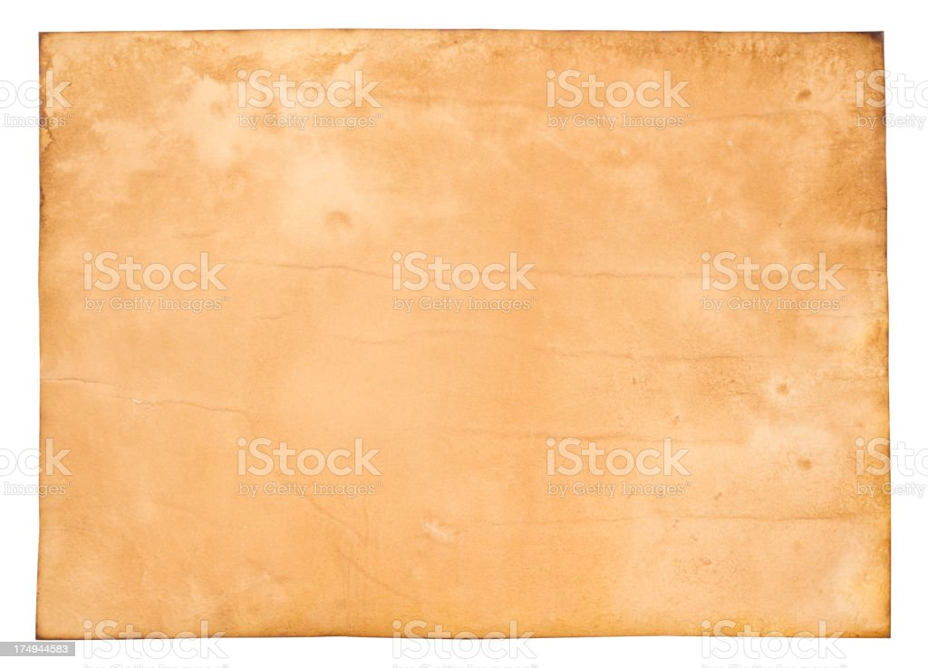 Large Isolated Old Aged Parchment Papyrus Grunge Paper Texture vector art illustration
