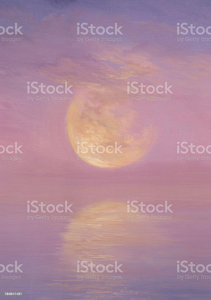 Large Moon royalty-free stock vector art