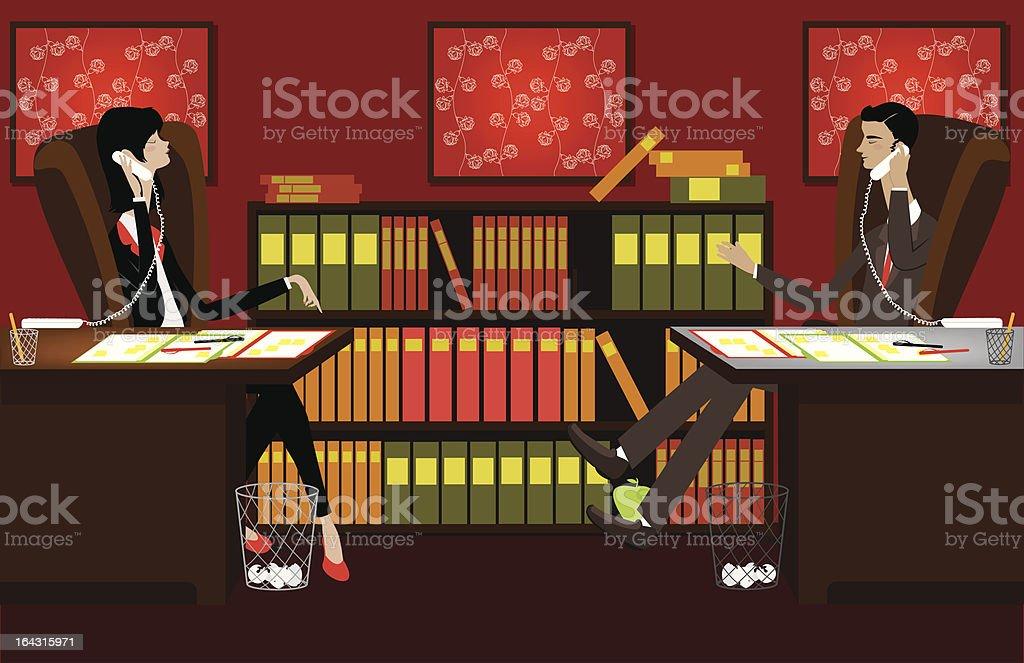 Large Office Scene royalty-free stock vector art