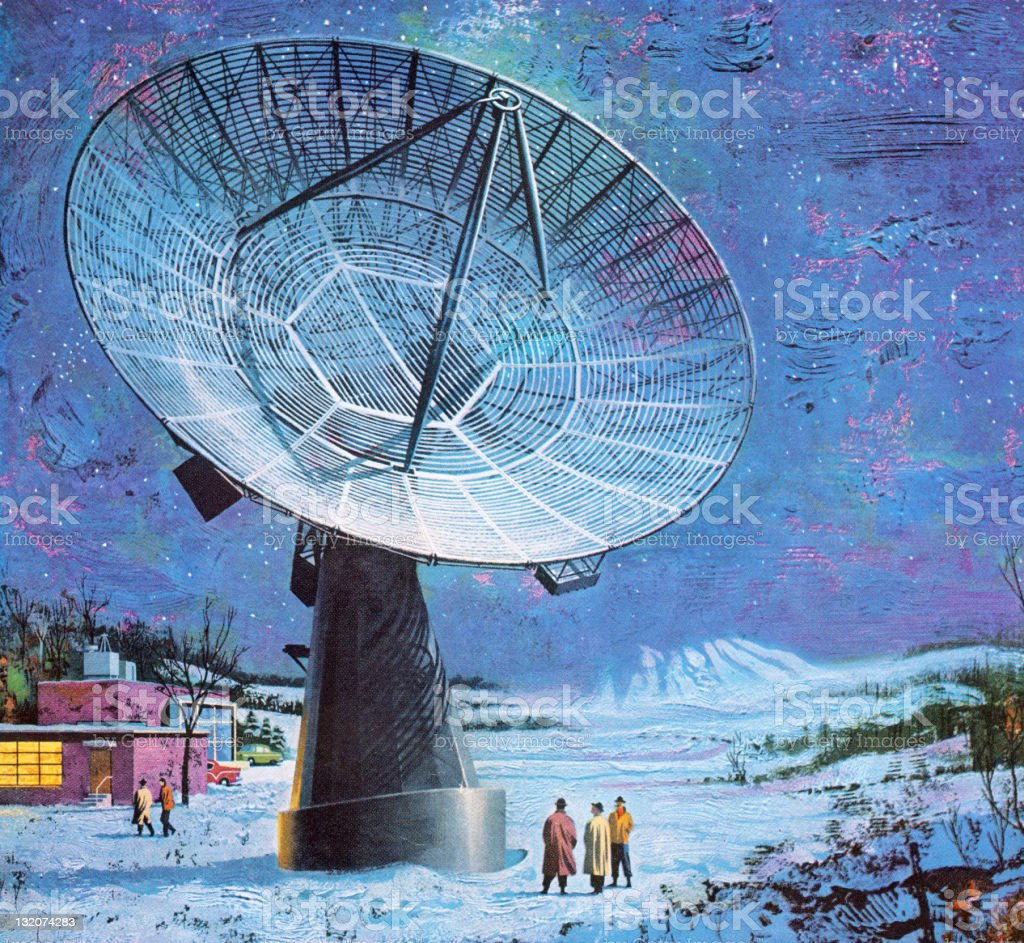 Large Satelite Dish royalty-free stock vector art