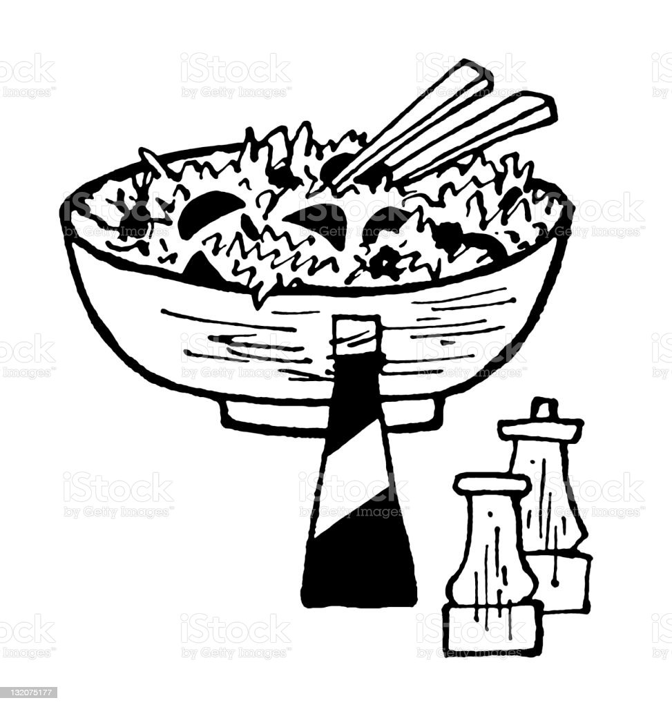 Large Tossed Salad royalty-free stock vector art