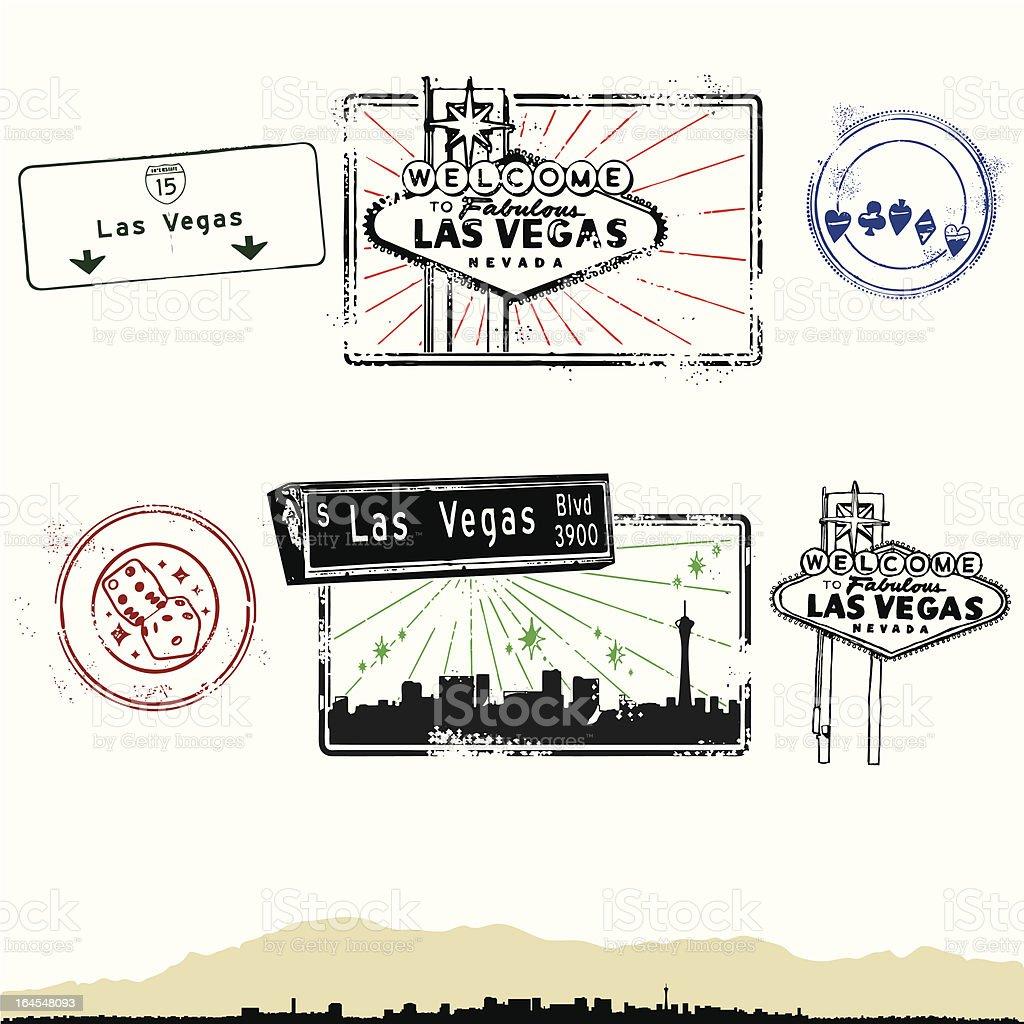 Las Vegas Lights and Magic vector art illustration