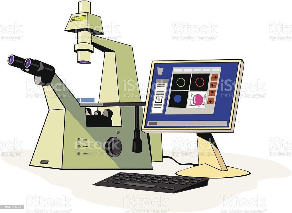 laser microscopy royalty-free stock vector art