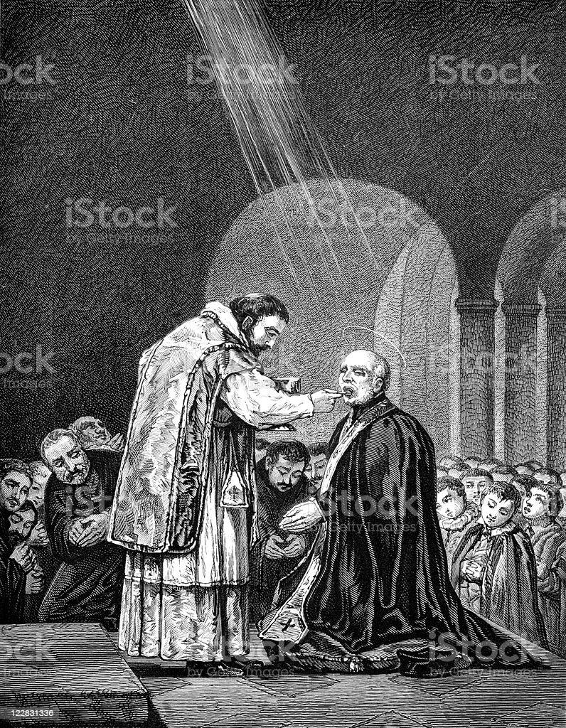Last Communion of Saint Joseph Calasanctius by Francisco Goya royalty-free stock vector art