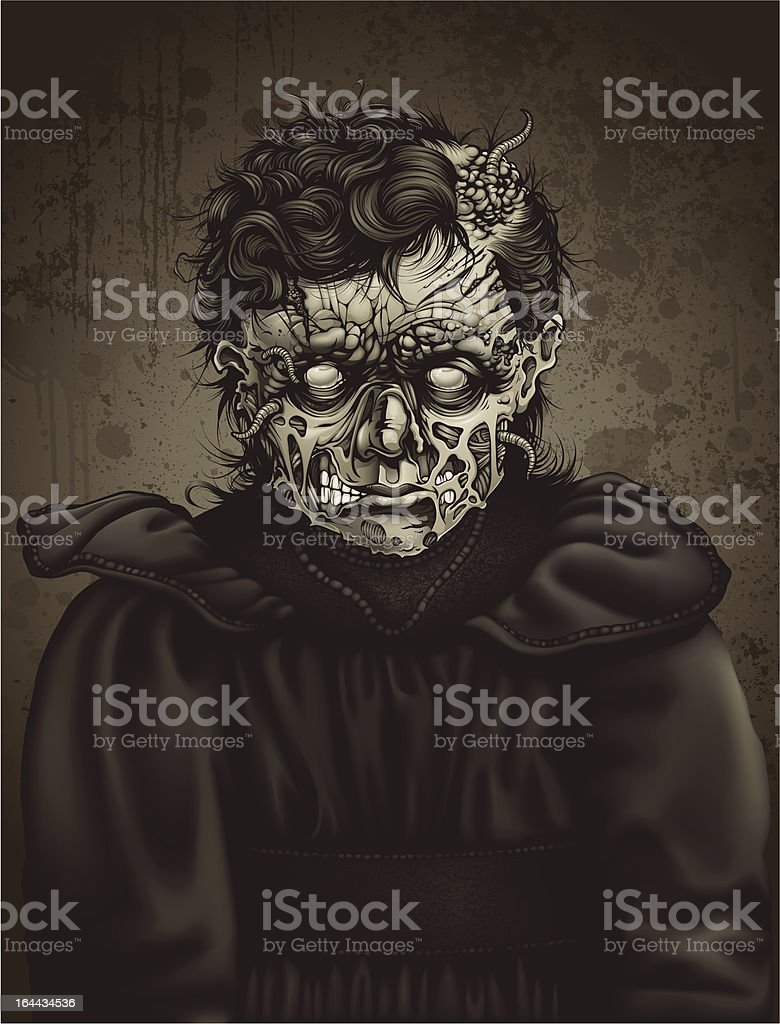 Late 19th Century Zombie Girl Portrait: Ester royalty-free stock vector art
