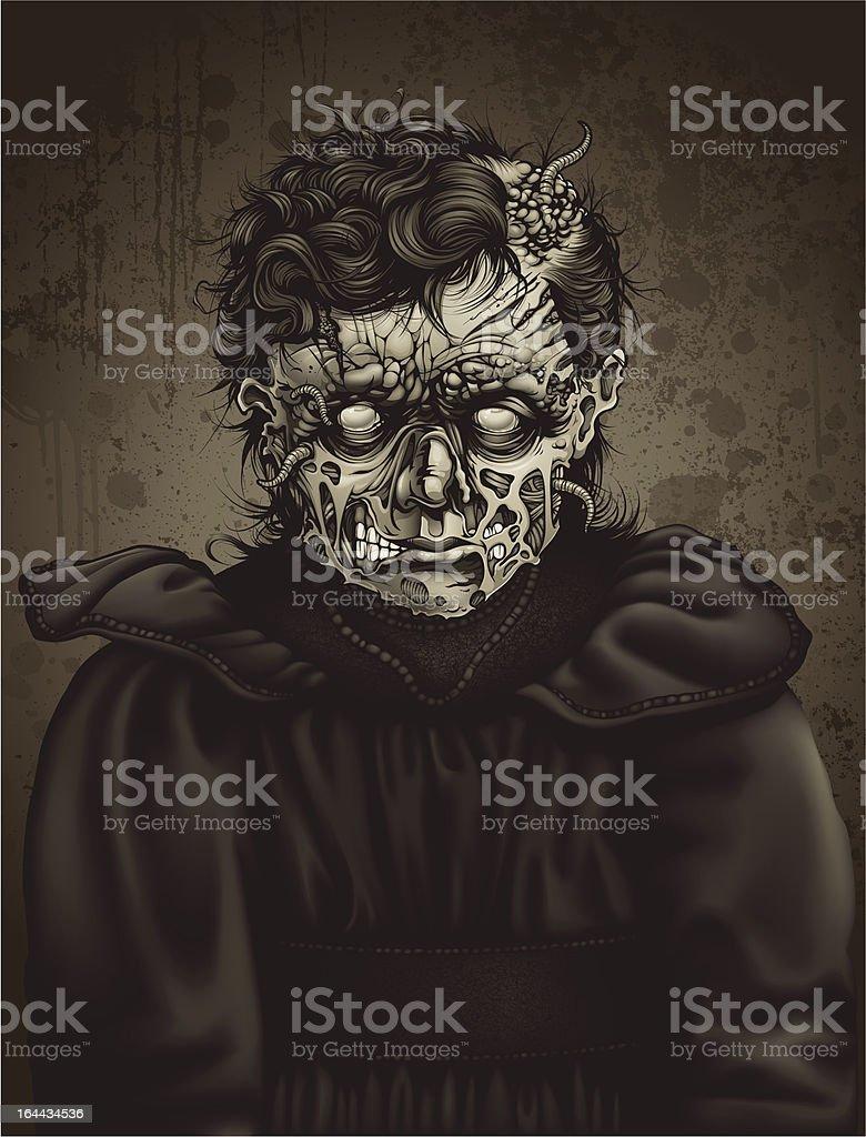 Late 19th Century Zombie Girl Portrait: Ester vector art illustration