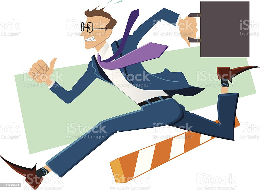 Late for work! royalty-free stock vector art