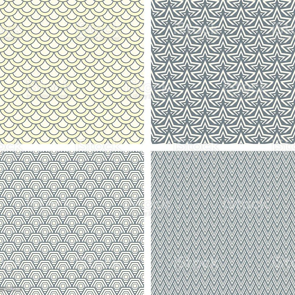 lattice pattern set royalty-free stock vector art