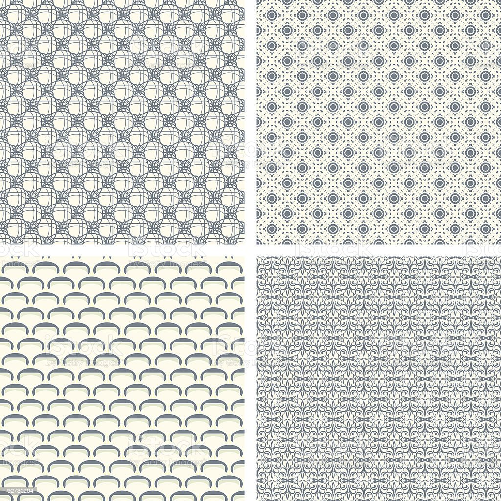 lattice pattern set in abstract royalty-free stock vector art