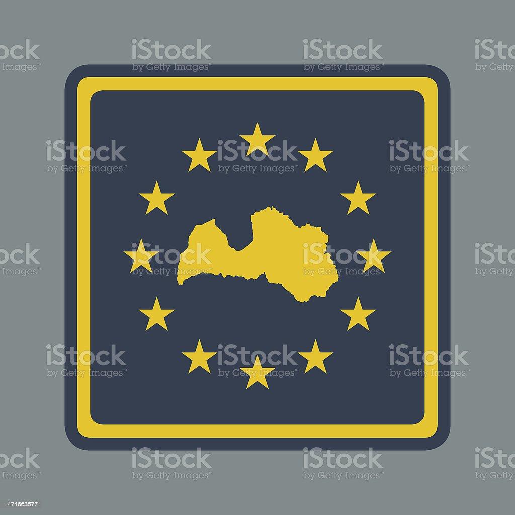 Latvia European flag button royalty-free stock vector art