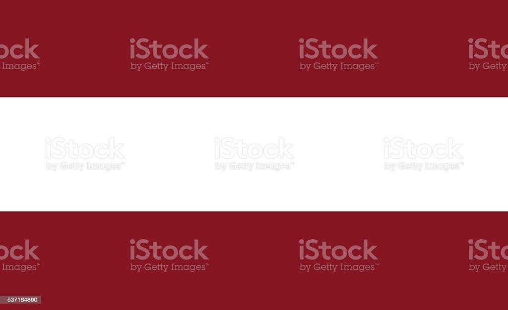 Latvia flat flag vector art illustration
