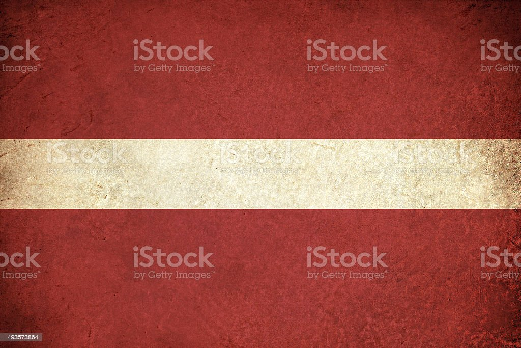 Latvia grunge flag vector art illustration
