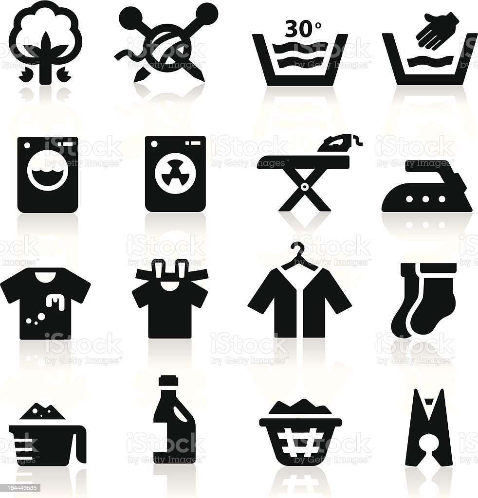 Laundry  Icon vector art illustration