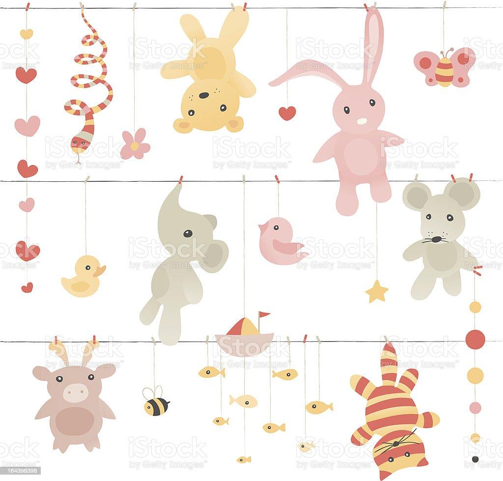Laundry Toys royalty-free stock vector art